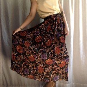 <VTG> Fall Floral & Paisley Maxi